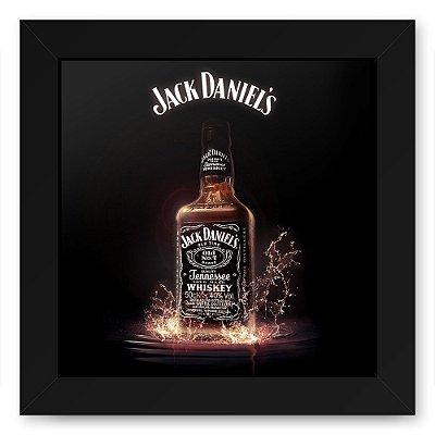 Quadro 20x20 Bebidas Wiskey Jack Splash