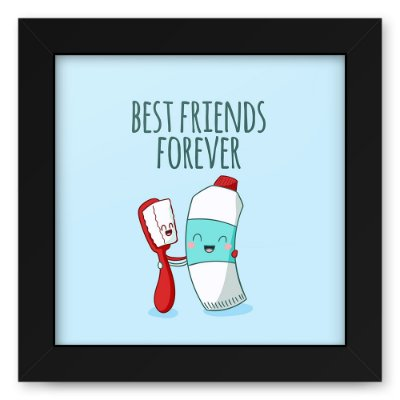 Quadro 20x20 Best Friends Brush