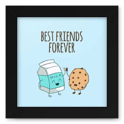 Quadro 20x20 Best Friends Milk Cookie