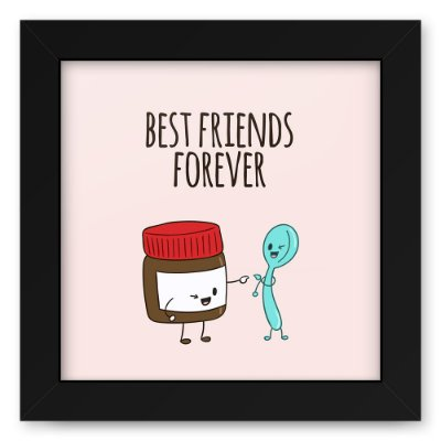 Quadro 20x20 Best Friends Nutella