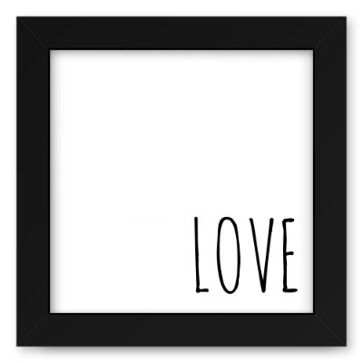 Quadro 20x20 Blacks Love