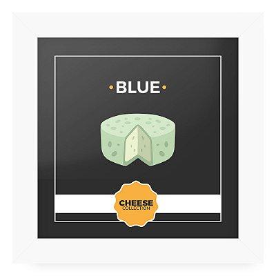 Quadro 20x20 Cheese Branco Blue