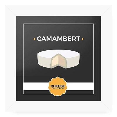 Quadro 20x20 Cheese Branco Camambert