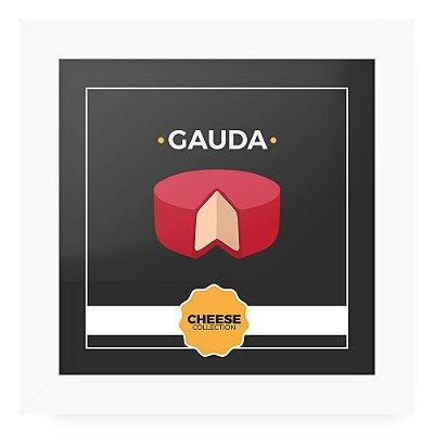 Quadro 20x20 Cheese Branco Gauda