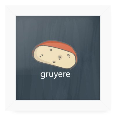 Quadro 20x20 Cheese Card Gruyere