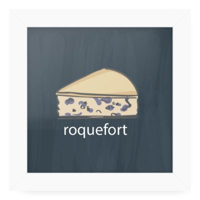 Quadro 20x20 Cheese Card Roquefort