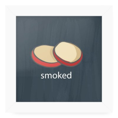 Quadro 20x20 Cheese Card Smoked