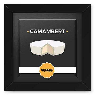 Quadro 20x20 Cheese Preto Camambert
