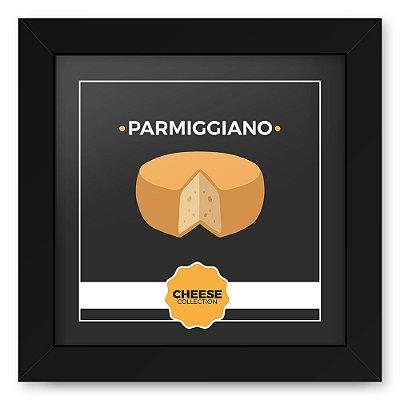 Quadro 20x20 Cheese Preto Parmiggiano