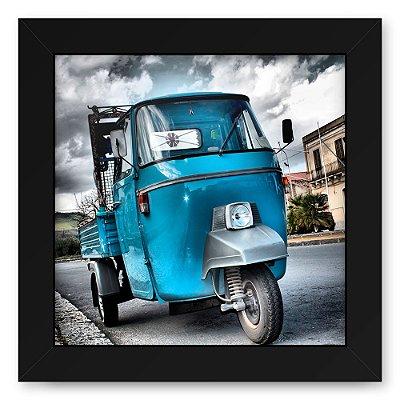 Quadro 20x20 Cidades Carro Azul