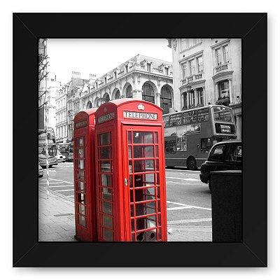 Quadro 20x20 Cidades Londres Red