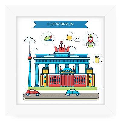 Quadro 20x20 Cidades Love Berlin