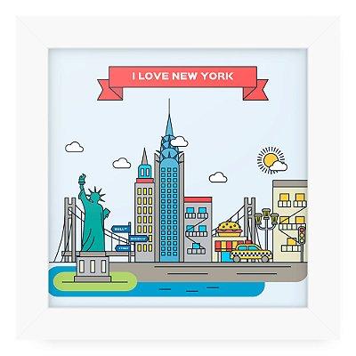Quadro 20x20 Cidades Love New York