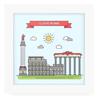 Quadro 20x20 Cidades Love Rome