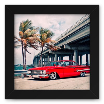 Quadro 20x20 Cidades Red Car