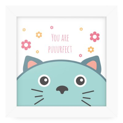 Quadro 20x20 Cute Animals Cat