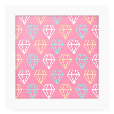 Quadro 20x20 Cute Love Textura