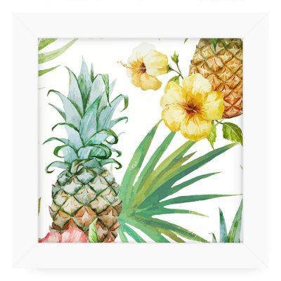 Quadro 20x20 Floral Abacxi