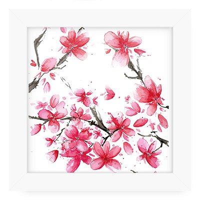 Quadro 20x20 Floral Cerejeira