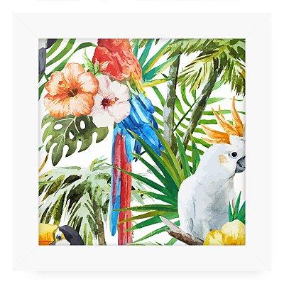 Quadro 20x20 Floral Cracatoa