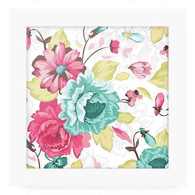 Quadro 20x20 Floral Linhas