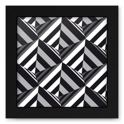 Quadro 20x20 Geometrico 3D Triangulos