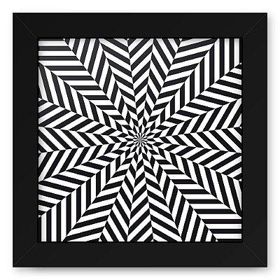 Quadro 20x20 Geometrico 3D Ziquizira