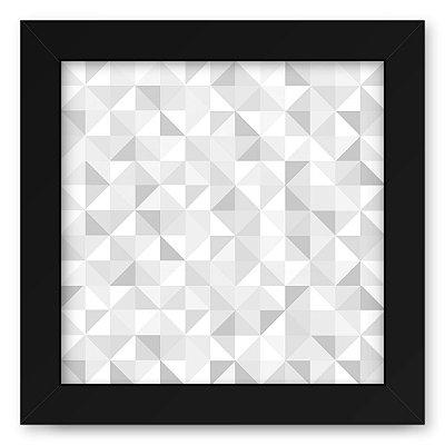 Quadro 20x20 Geometrico Cinzas