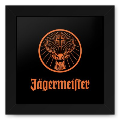 Quadro 20x20 Jager Black Orange