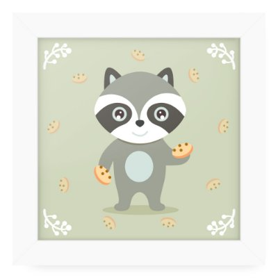 Quadro 20x20 Litle Cuties Raposa