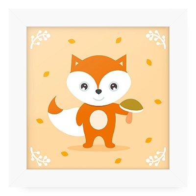 Quadro 20x20 Litle Cuties Raposinha