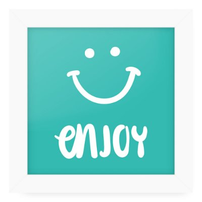 Quadro 20x20 Love Happy Enjoy