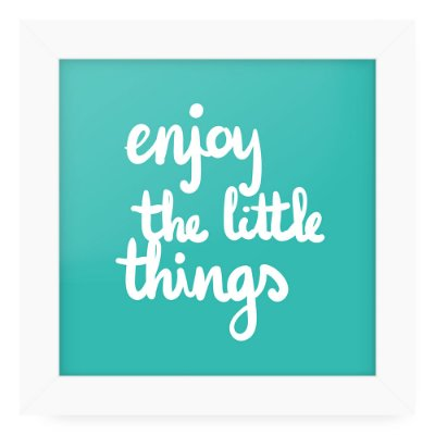 Quadro 20x20 Love Happy Enjoy Litle Things