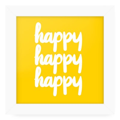Quadro 20x20 Love Happy Happy Happy Happy