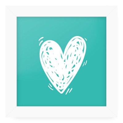 Quadro 20x20 Love Happy Heart
