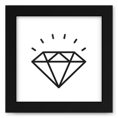 Quadro 20x20 Love Lines Diamond
