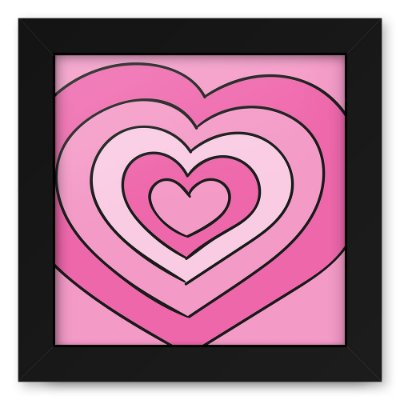 Quadro 20x20 Love Style Heartsss