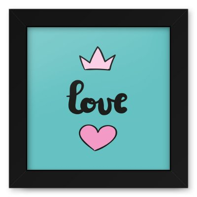 Quadro 20x20 Love Style Love King