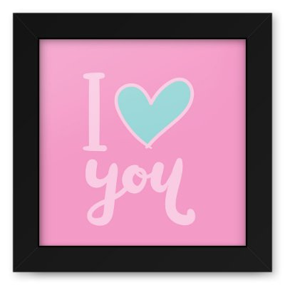 Quadro 20x20 Love Style Love You