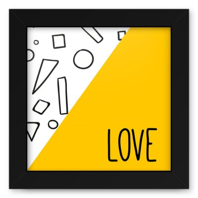 Quadro 20x20 Love Triangulos Love