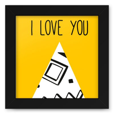 Quadro 20x20 Love Triangulos Love You