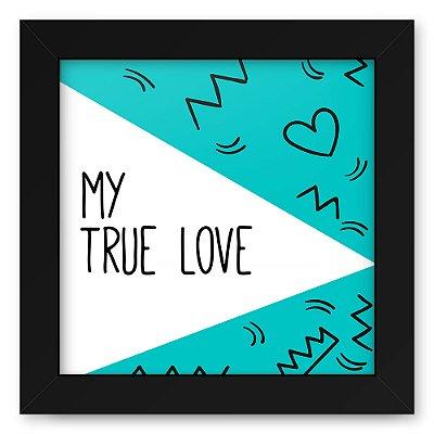 Quadro 20x20 Love Triangulos True Love