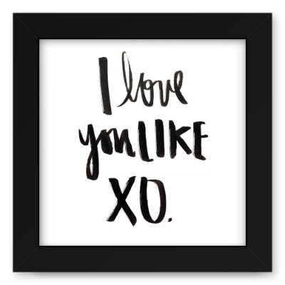 Quadro 20x20 Love You Lixe Xo