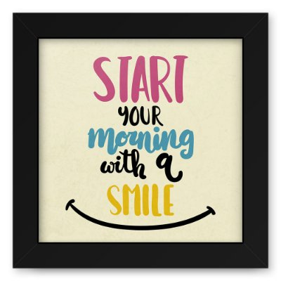 Quadro 20x20 Morning Smile