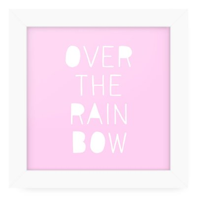 Quadro 20x20 Over The Rainbow
