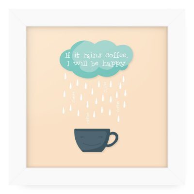 Quadro 20x20 Rains Coffee