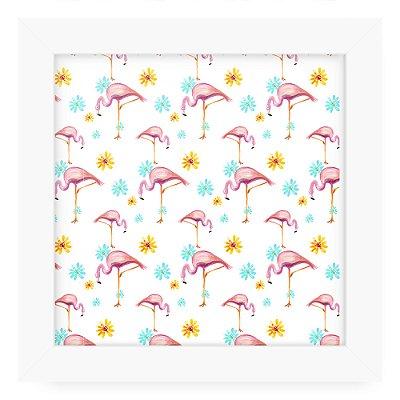 Quadro 20x20 Textura Flamingo