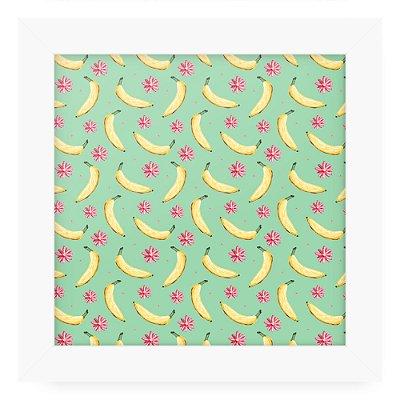 Quadro 20x20 Textura Frutas Bananas