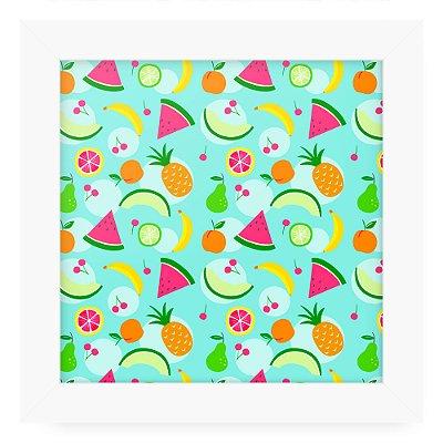 Quadro 20x20 Textura Frutas Tropicais