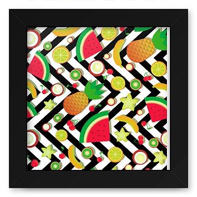 Quadro 20x20 Textura Frutas Zig Zag
